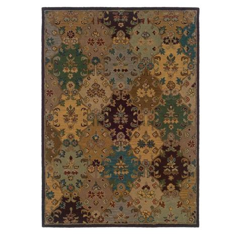 home decor area rugs linon home decor trio ivory and multi 8 ft x 10 ft area