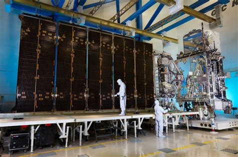 lockheed martin solar panel lockheed martin s goes r satellite solar array spreads its