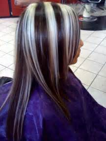 chunking highlights hair pictures black hair with blonde chunks to dye for pinterest