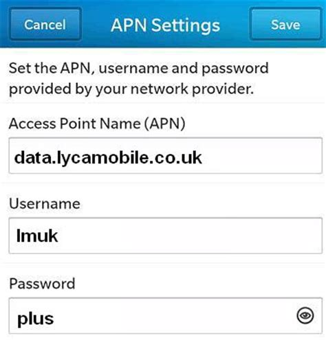 lycamobile mobile data settings lycamobile uk settings for android and blackberry