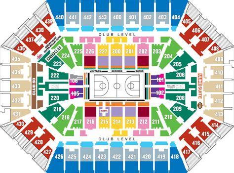 bucks seating chart groups pricing seating and arena map milwaukee bucks
