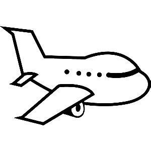Plane Clipart Black And White   Das Wallpaper