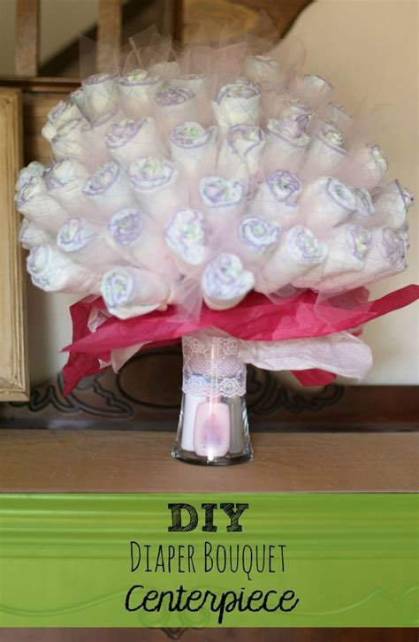 bouquet diy diaper bouquet baby shower pinterest centerpieces
