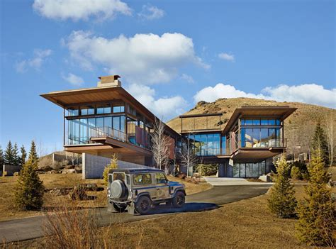 Mountainside House Plans This Modern Mountain House Is Filled With Industrial