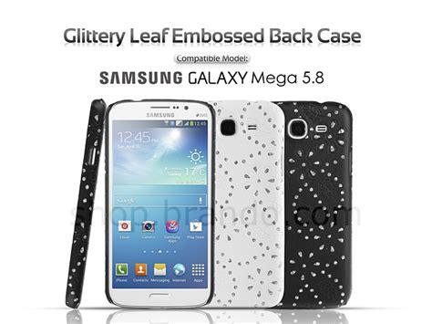 Back Door Samsung Mega 5 8 samsung galaxy mega 5 8 duos glittery leaf embossed back