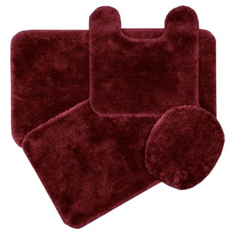 Burgundy Bathroom Rugs Royale Merlot Burgundy Bath Rug Ensemble Bedbathhome