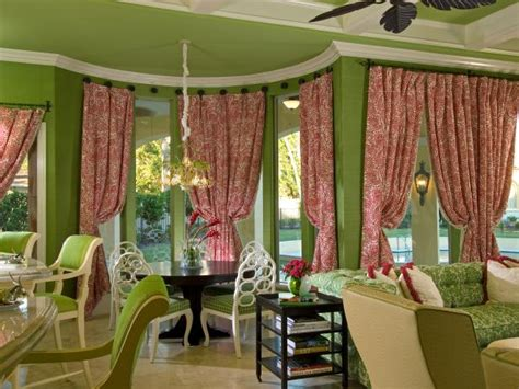 curtains for bay windows in dining room bay window treatment ideas hgtv