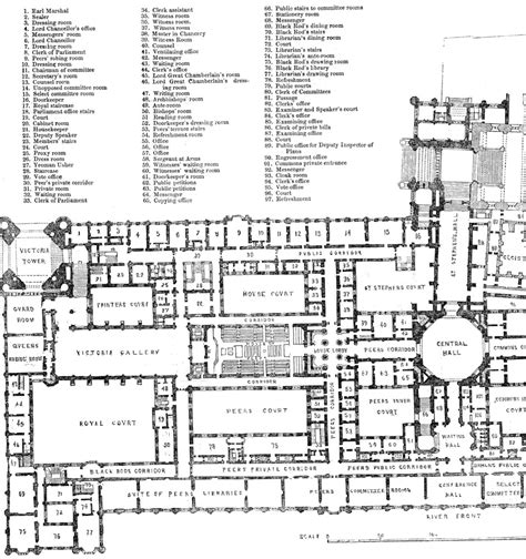 floor plan of house parliament house floor plan numberedtype