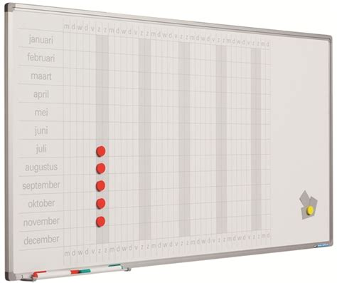 planbord jaarplanning 60x120 cm in dagen