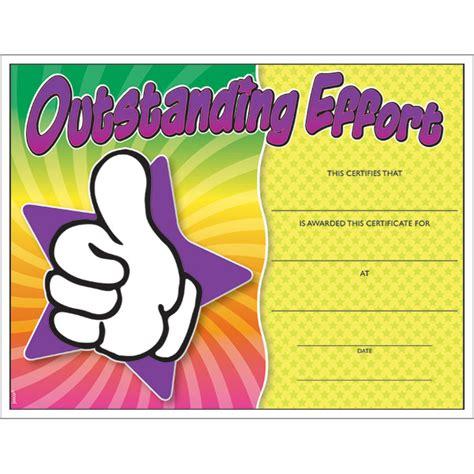 outstanding effort colorful certificate jones school supply