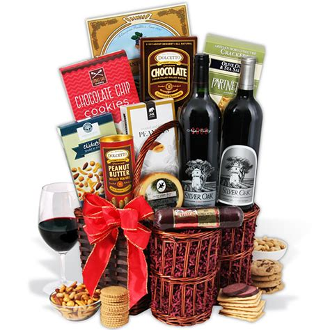 Baskets For Gifts - silver oak duo wine gift basket by