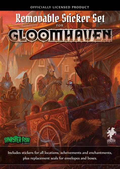 Gloomhaven Removable Sticker Set removable sticker set for gloomhaven sinister fish