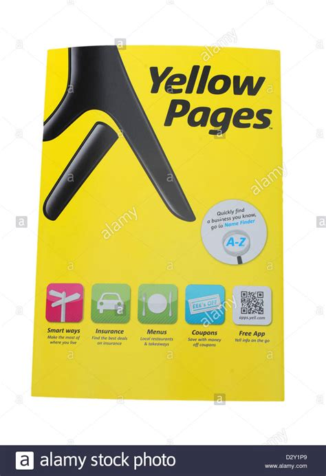 Finder Yellow Pages Yellow Pages Telephone Directory Stock Photo Royalty Free Image 53454529 Alamy