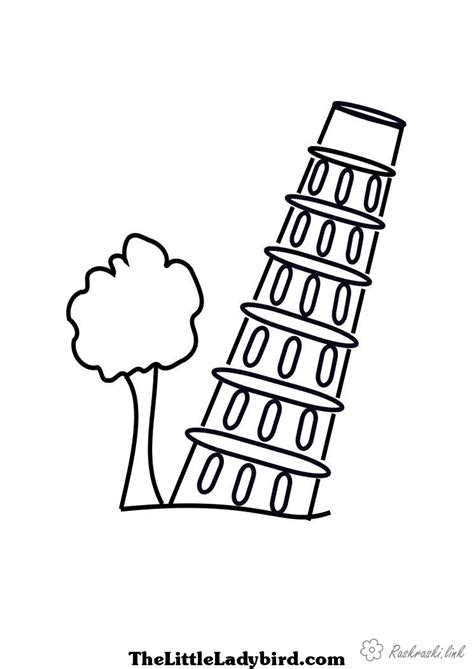 Tower Of Pisa Coloring Pages Leaning Tower Of Pisa Coloring Page