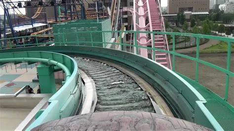 The Crazy Japanese Airtime Log Flume Roller Coaster POV