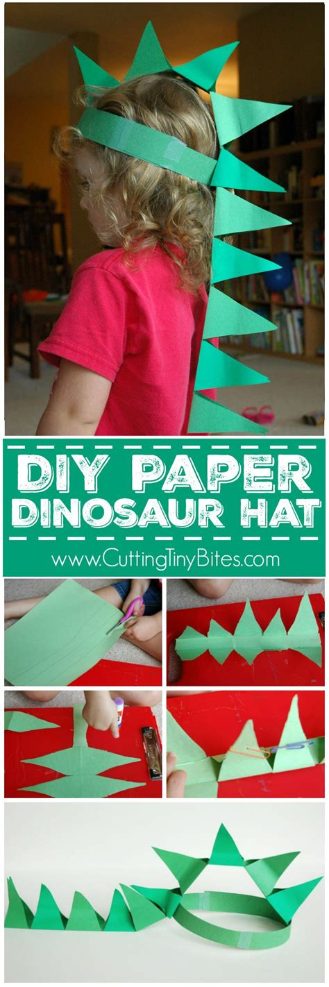 How To Make A Dinosaur Hat Out Of Paper - 25 best ideas about paper hats on paper hat