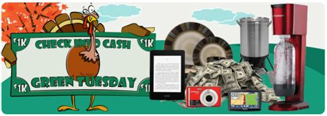 Cash Sweepstakes 2013 - check into cash 21 days of thanksgiving sweepstakes win 1 000