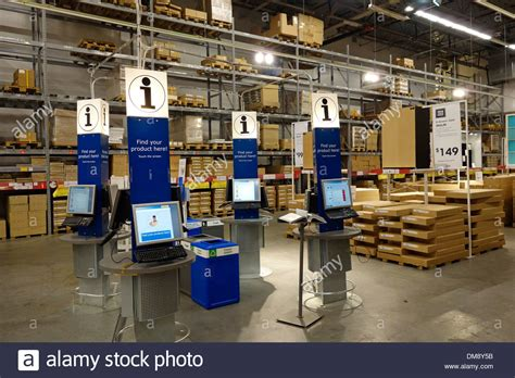 customer inside warehouse part of ikea home store stock ikea store warehouse stock photo 64121159 alamy