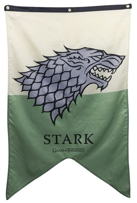 house stark banner stark house banner game of thrones flags banners