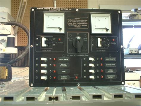 Switch Panel Geser Ac Mobil mobile marine electrical services custom boat electrical panels