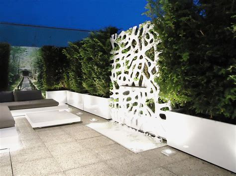 modern balcony planters modern sectional sofa facing low table on amusing floor