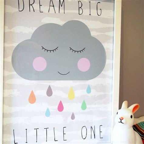 Baby Cloud Print One cloud nursery print by happy paper notonthehighstreet
