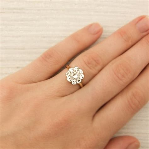 7 Engagement Rings From Since1910 by An Antique Engagement Ring Made In Yellow Gold And