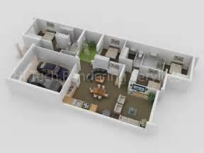 Modular Garage With Apartment 3d floor plan design floorplans modeling rendering hi