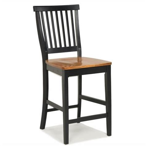 24 Inch Kitchen Stools by 24 Quot Counter Kitchen Stool In Black And Oak 5003 89
