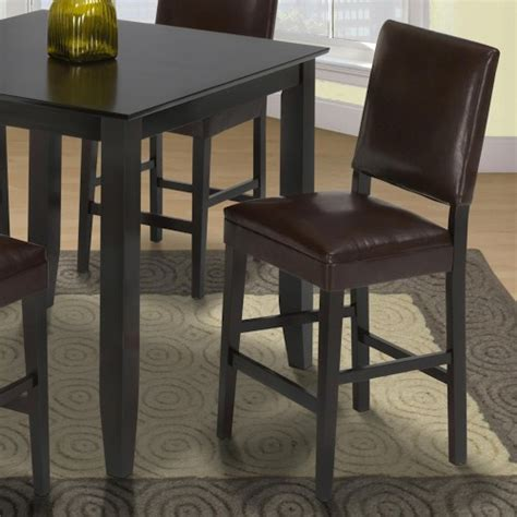 new classic style 19 chocolate counter height upholstered