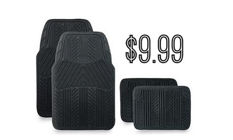Sears Floor Mats by Sears 4 Rubber Floor Mats 9 99 Southern Savers