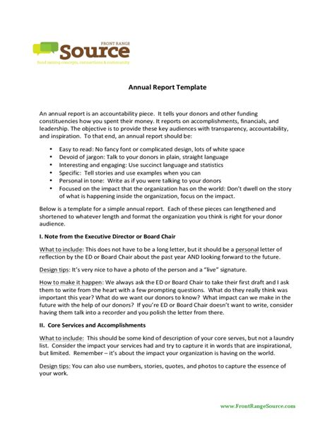 annual report template 7 free templates in pdf word