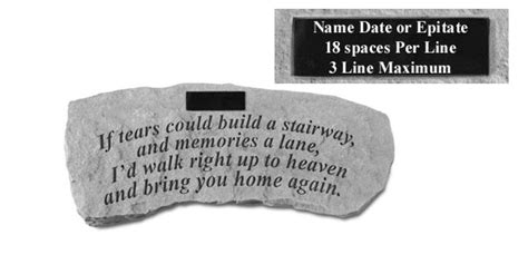 if tears could build a stairway bench made in the usa of cast stone pet memorial bench personalized