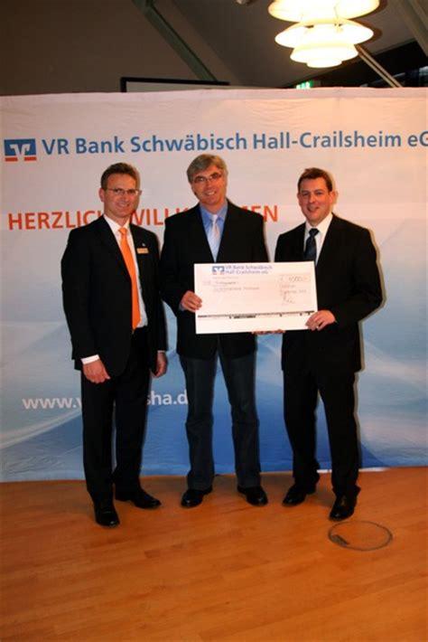 vr bank schw 228 bisch crailsheim eg spendet f 252 r