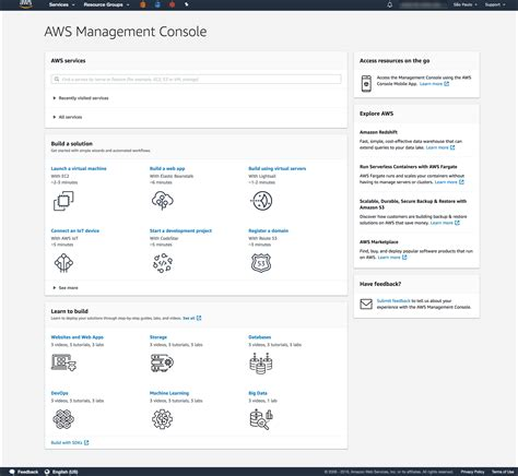 aws management console working with the aws management console aws management