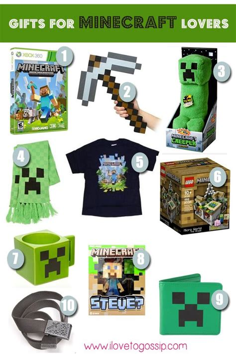 minecraft gifts holiday gift guides pinterest