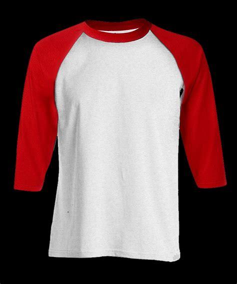 Kaos 4 20 Putih jual kaos polos raglan warna putih lengan merah cotton