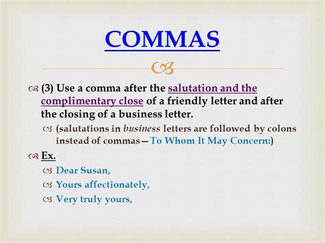 Business Letter Salutation Punctuation business letter colon or comma 28 images dates