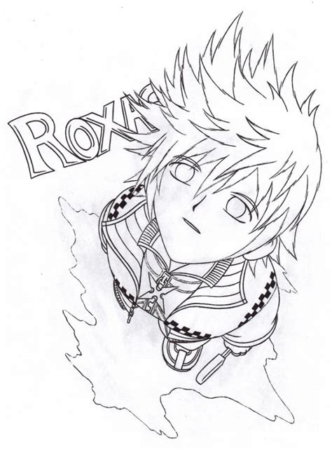 Drawing B W roxas drawing b w by meun