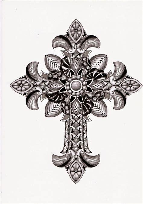 ornate cross tattoos s tangles tangled ornate cross