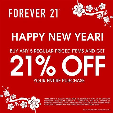 new year 19 february forever 21 new year special sale january