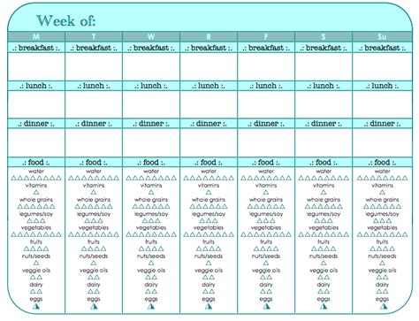 Excel Room Layout Template food and exercise tracker printable fitness pinterest