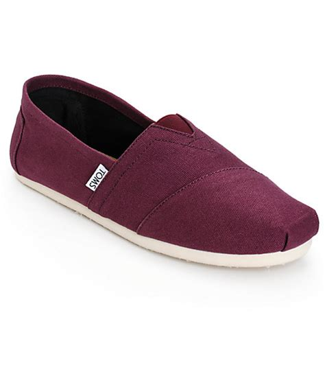 toms classics mens slip on shoes