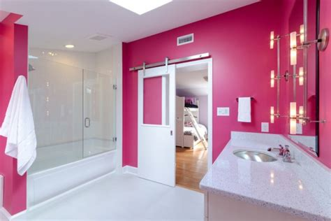 Raspberry Bathroom Paint pretty in pink bathrooms beautiful homes design