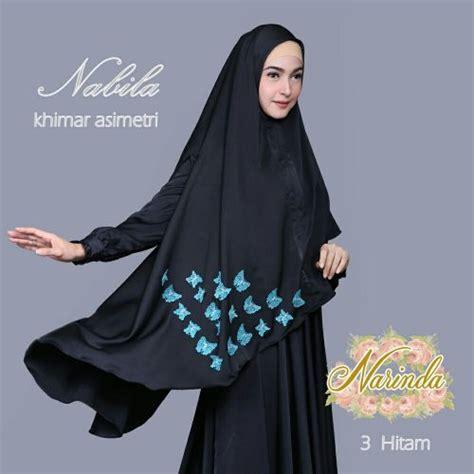 Jilbab Instan Nabila jual khimar asimetri nabila by narinda toko jilbab branded instan kerudung