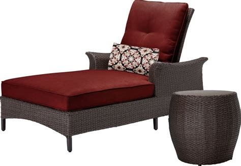 Lounge Tables And Chairs by Hanover Gramercy Outdoor Chaise Lounge Chair And Table Set