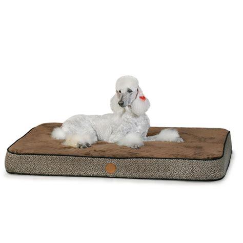 orthopedic pet bed superior orthopedic pet bed large mocha k h