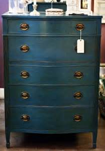 beautiful vintage dresser painted with chalk paint