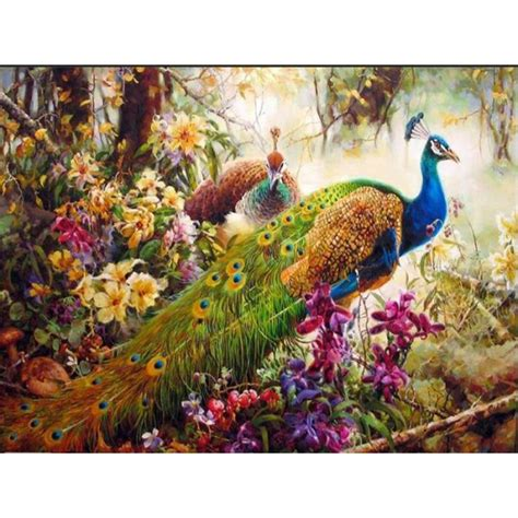 buy wholesale peacock painting  china peacock