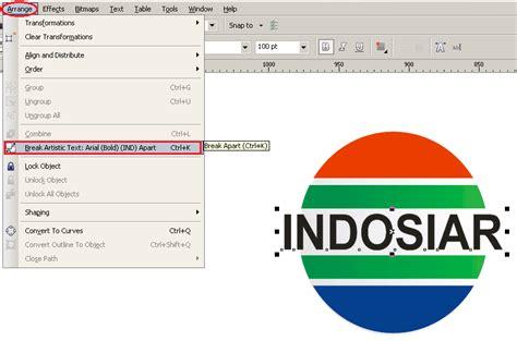 membuat logo menggunakan coreldraw x4 langkah langkah cara membuat logo indosiar menggunakan